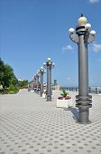 Quay a tourist town of Anapa. Russia poster