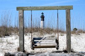 Tybee Island Lighthouse With Swing