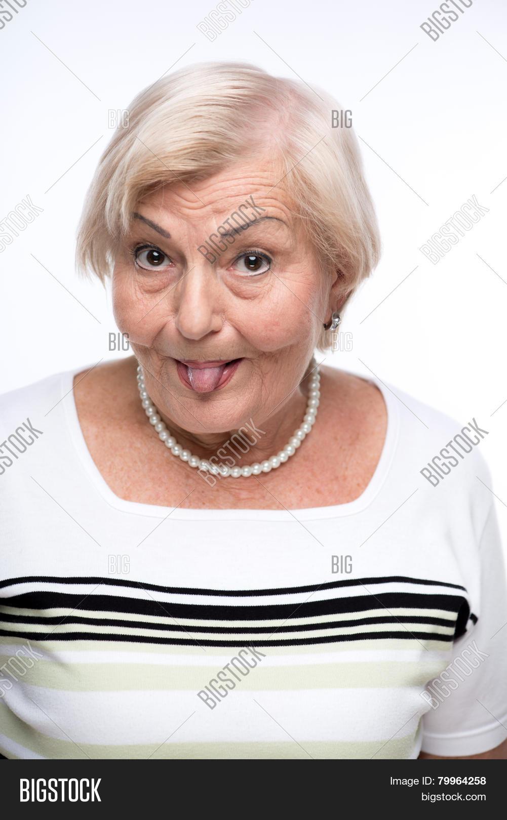 naughty granny making faces image & photo | bigstock