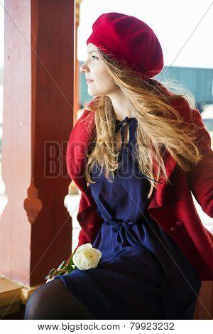 Woman On Boundaries Catch Wind Flow