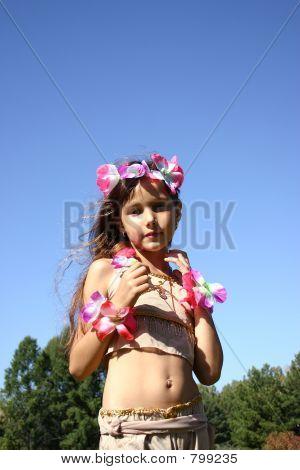 Portrait the girl in oriental costume