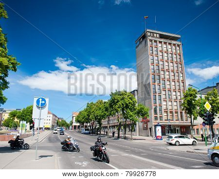 The main Klaipeda city street - H.Mantas street