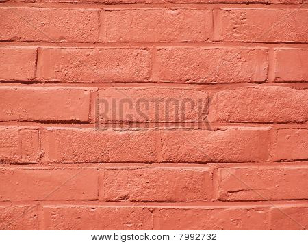 Red, painted brickwall