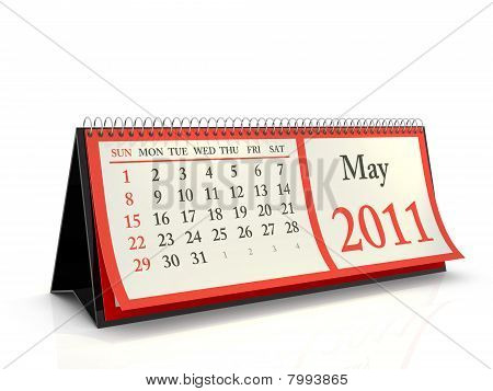 Desktop Calendar 2011 May