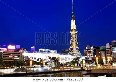 Nagoya, Japan skyline at Nagoya Tower.
