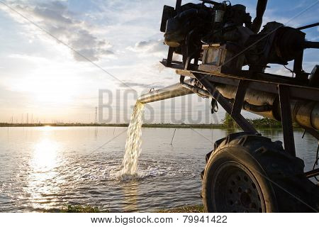 Water Pump Supply For Agricultural Universal Use In Fish And Shrimp Farm In Country Thailand Using M