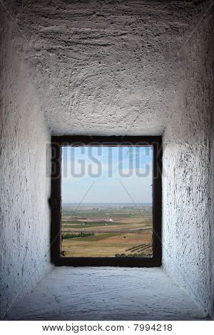 Castilla Landscape Seen Through Window