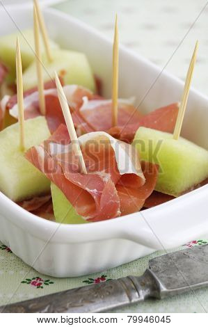 Italian ham and melon