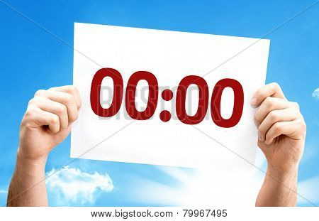 00:00 card with a beautiful day