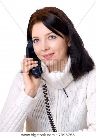 Attractive Woman At Telephone