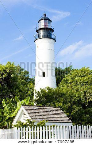 The Key West Lighthouse, Florida Keys, Florida, Usa