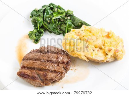 Filet Mignon Au Jus With Baked Potato