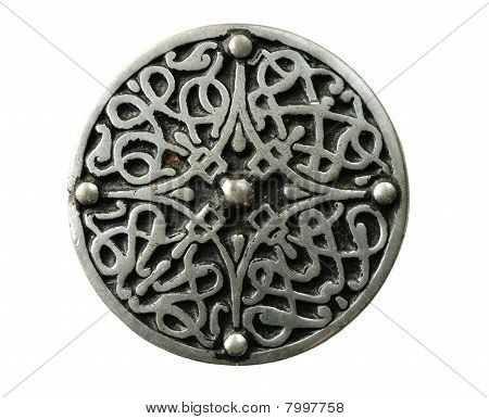 Isolated Celtic Brooch
