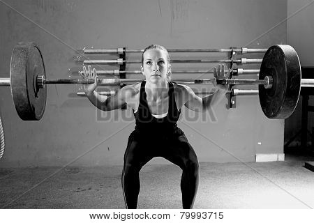 Woman On A Weightlifting Session - Workout.