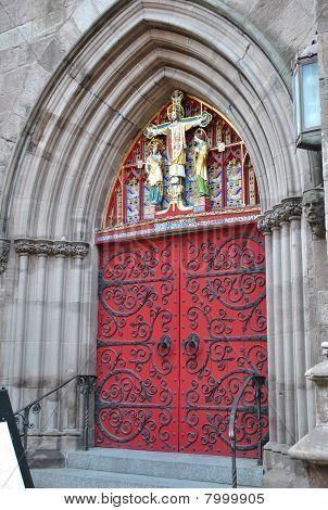 Ornate church door