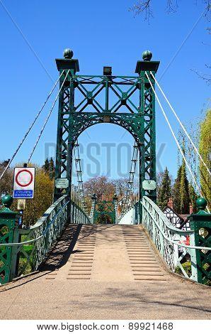 Porthill Suspension Bridge, Shrewsbury.