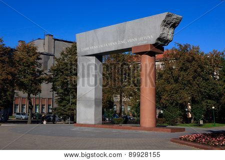 Arka Monument In Klaipeda