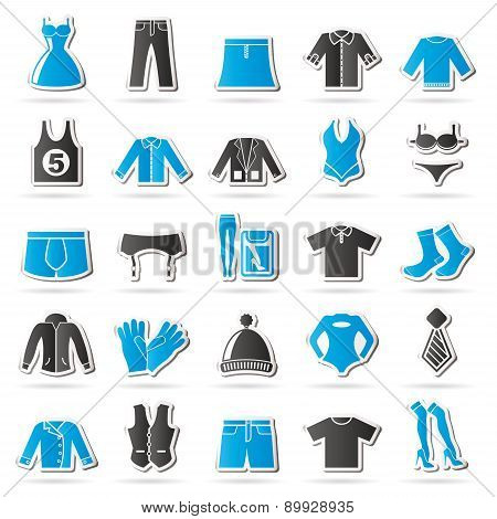 Clothing and Fashion collection icons