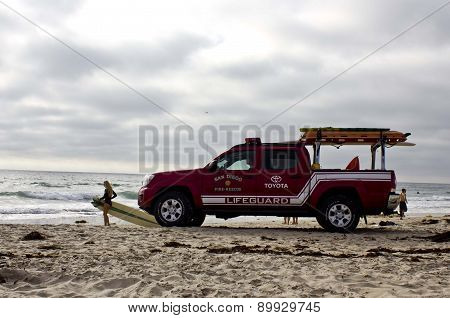 Toyota Lifeguard Vehicle At Sunset