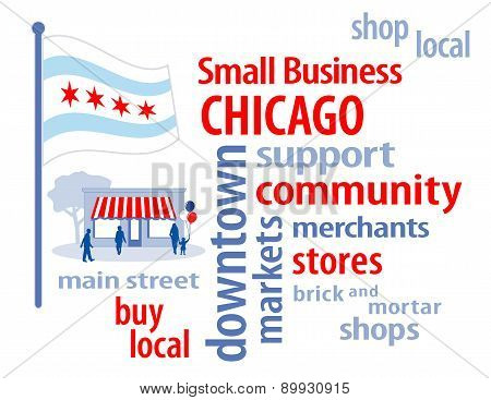 Small Business Chicago, The Windy City Flag