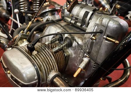 Old Retro Motorcycle Engine