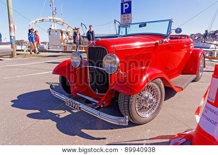 Classic Open Convertible In Red