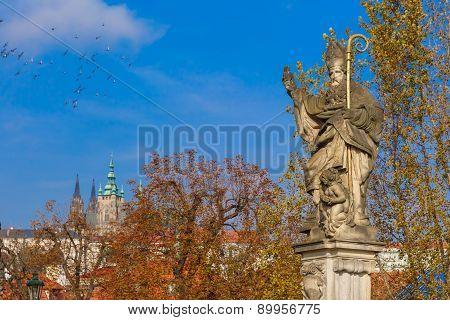 Statue of St. Augustine, Prague, Czech Republic