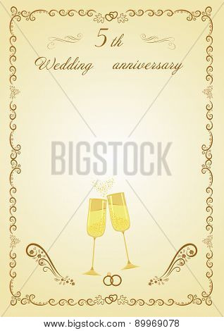Congratulations on the 5th anniversary wedding