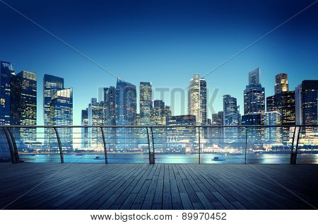 Cityscape Architecture Building Business Metropolis Reflection Concept
