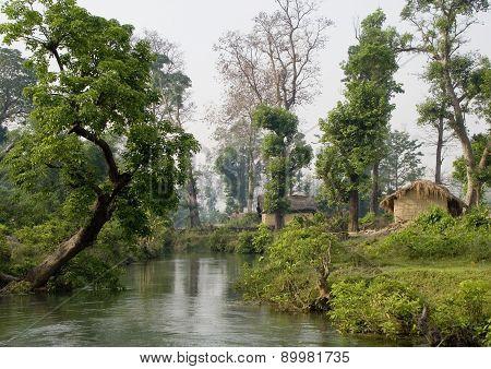 Thakurdwara, typical Tharu village, Nepal