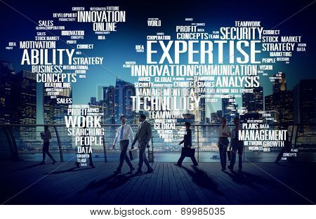 Expertise Career Job Profession Occupation Concept poster