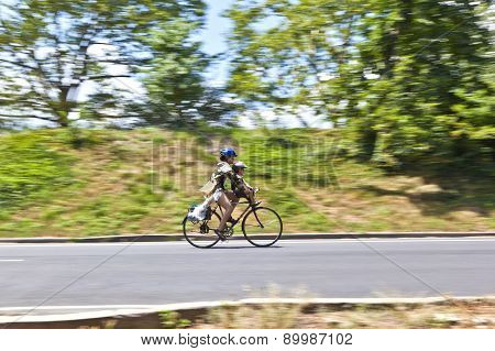 Biker In Central Park
