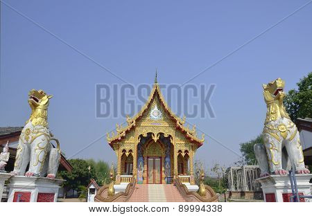Thai Temple Wat Koungmeun,chiang Mai Thailand
