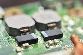 circuit board (integrated circuits diodes transistors vacuum tubes) poster