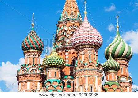 Towers Of Pokrovsky Cathedral In Moscow