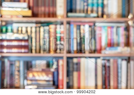 Blurred Background From Books In Library