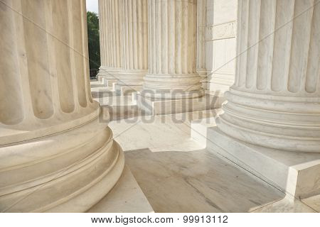 Columns Of The Supreme Court Close Up