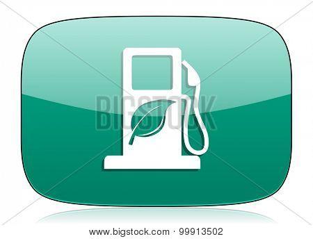 biofuel green icon bio fuel sign