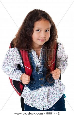 Pupil With Schoolbag