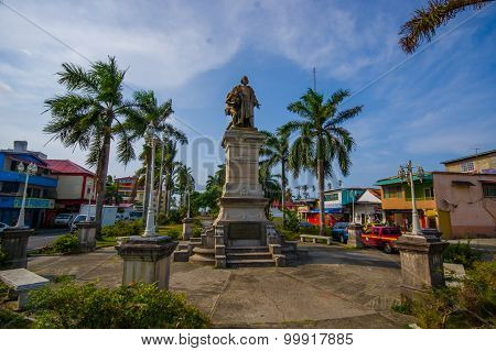 Colon, Panama - April 14, 2015 : Colon Is A Sea Port On The Caribbean Sea Coast Of Panama. The City