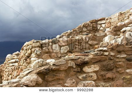 Tuzigoot Under A Brooding Sky