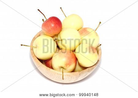 Apples In Wooden Cup.