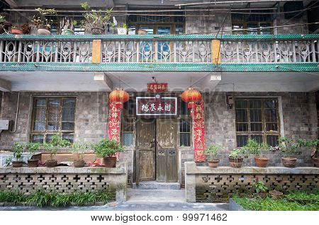 Exterior Of A Traditional Chinese House In Fenghuang, China