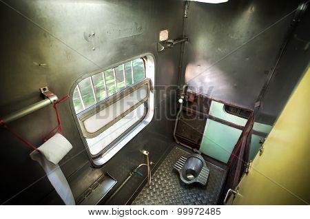 Squat Toilet Onboard A Thai Train