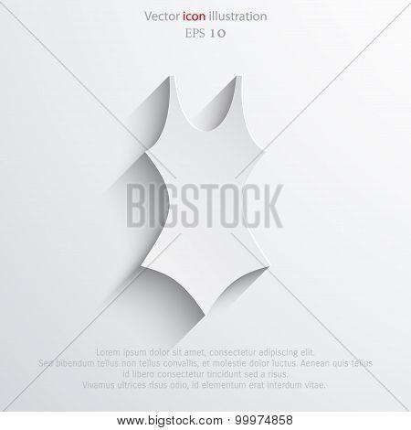 Vector swimsuit icon