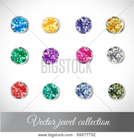 Vector jewel collection isolated on white background poster