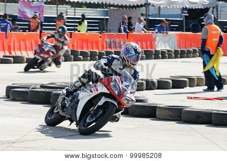 Yamaha Motorbike Racing At Thailand