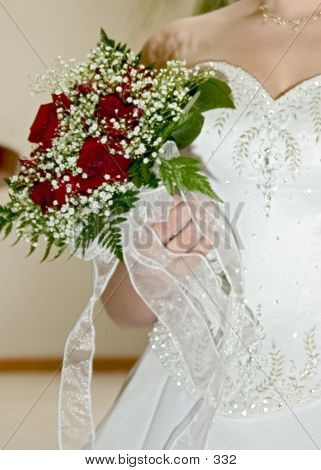 Wedding Flowers And Dress