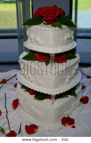 Wedding cake, 1500 px across, 180 dpi poster