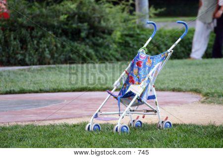 Empty Baby Stroller